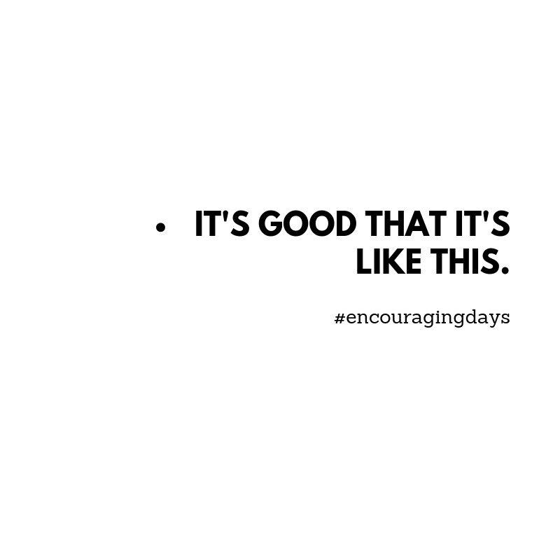 Facto: É bom que seja assim
