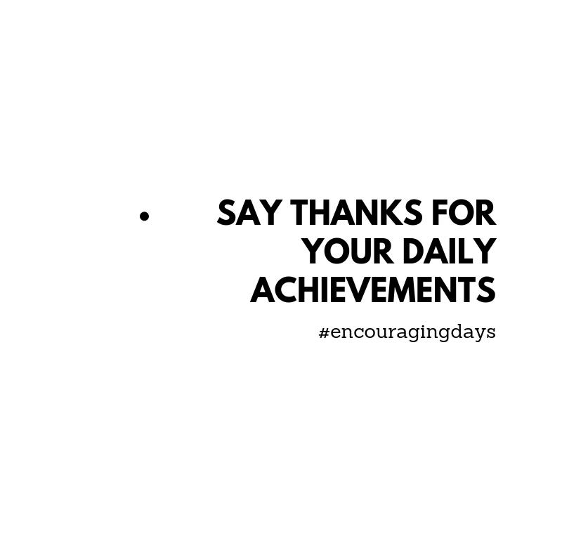 Lembrete: Agradece as tuas conquistas diárias