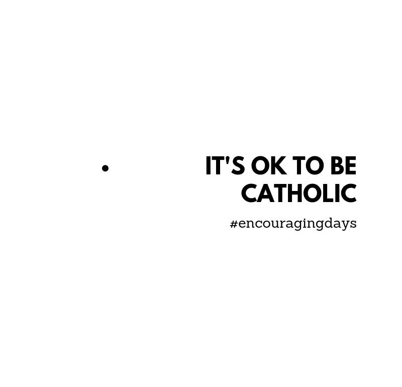 Lembrete: Está tudo bem se és católico(a).