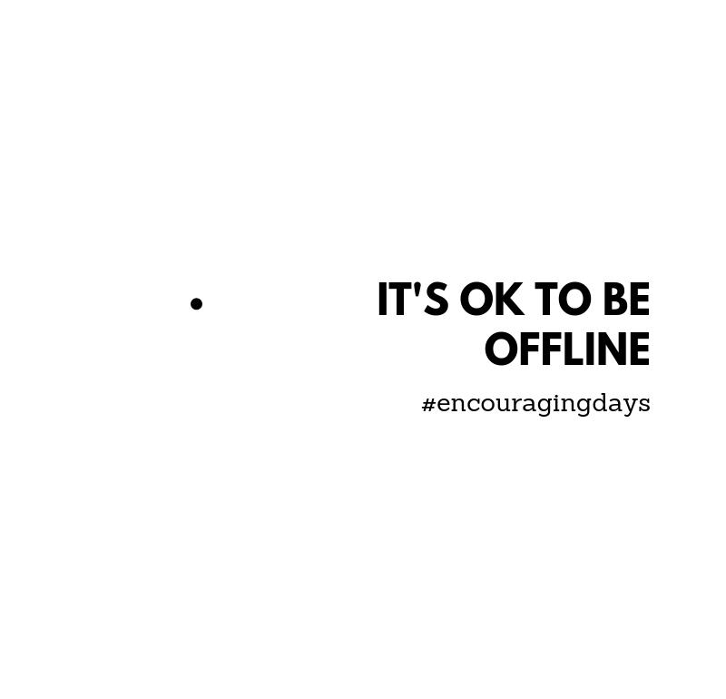 Lembrete: Não faz mal estar offline.