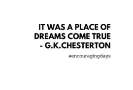 Frase inspiradora: Era um lugar de sonhos.